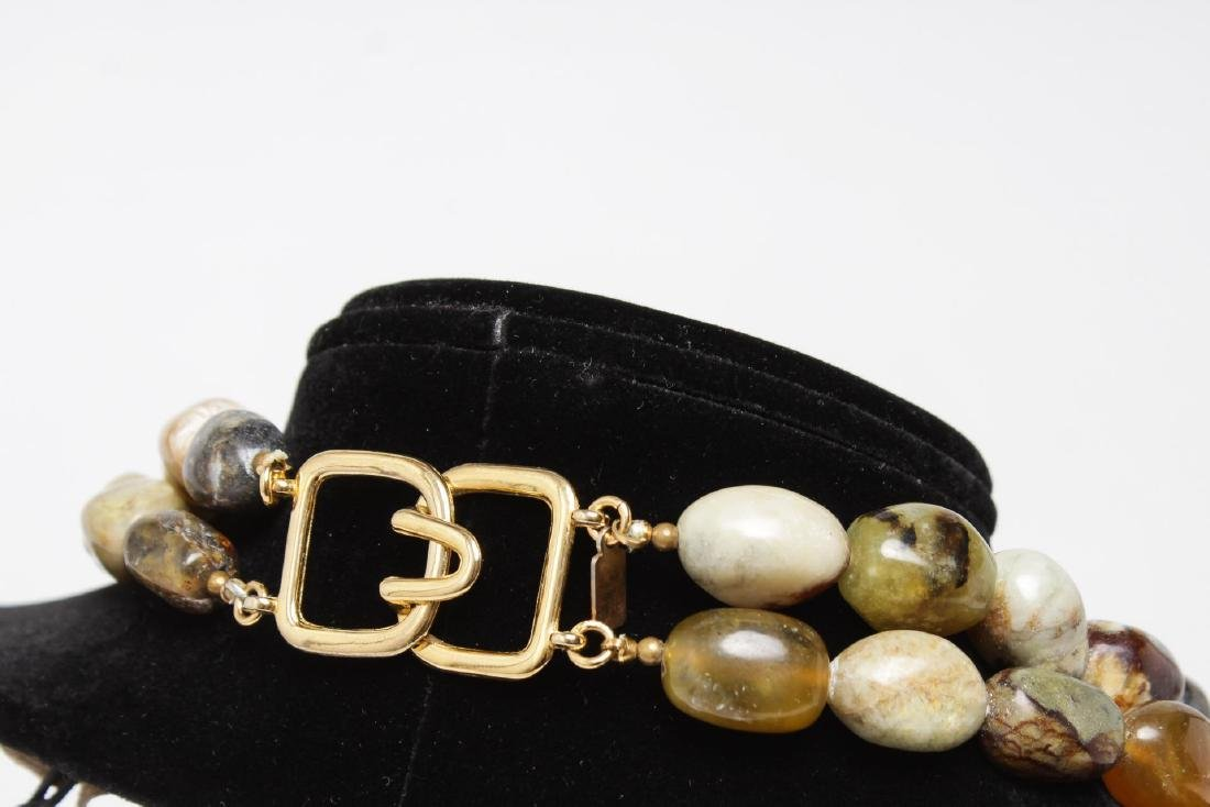 Kenneth J. Lane Layered Agate Necklace - 2
