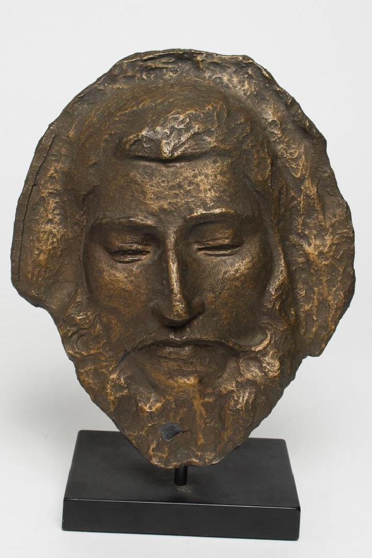 Portrait of Aristotle- Black Clay Sculpture