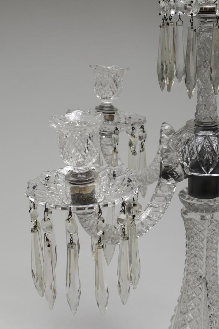 Cut Glass Prism Candelabrum, 5-Light - 3
