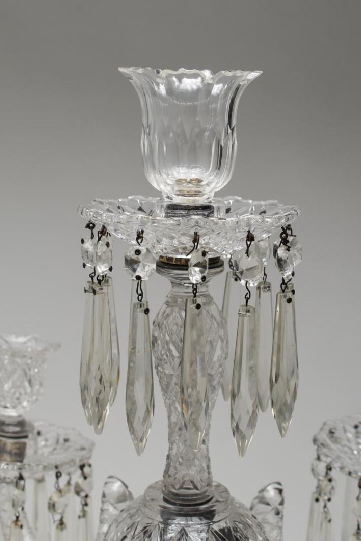 Cut Glass Prism Candelabrum, 5-Light - 5