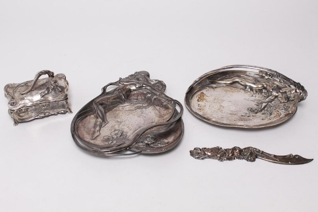 Art Nouveau Silver-Plate Articles, 3 w. Met Museum