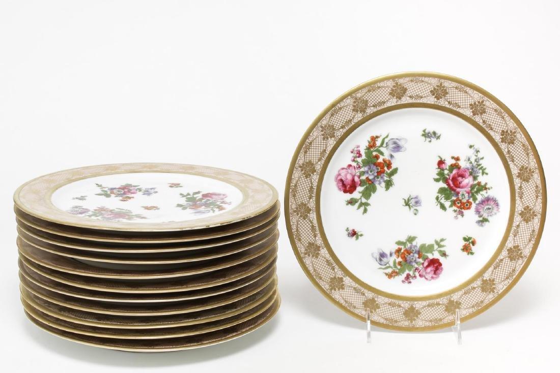 Bavaria Tirschenreuth Porcelain Plates, Set of 12
