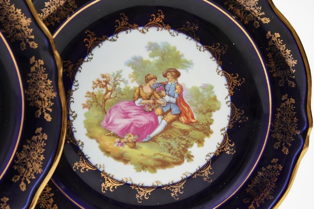 Limoges & Other Cobalt Blue Porcelain Items, 5 Pcs - 4