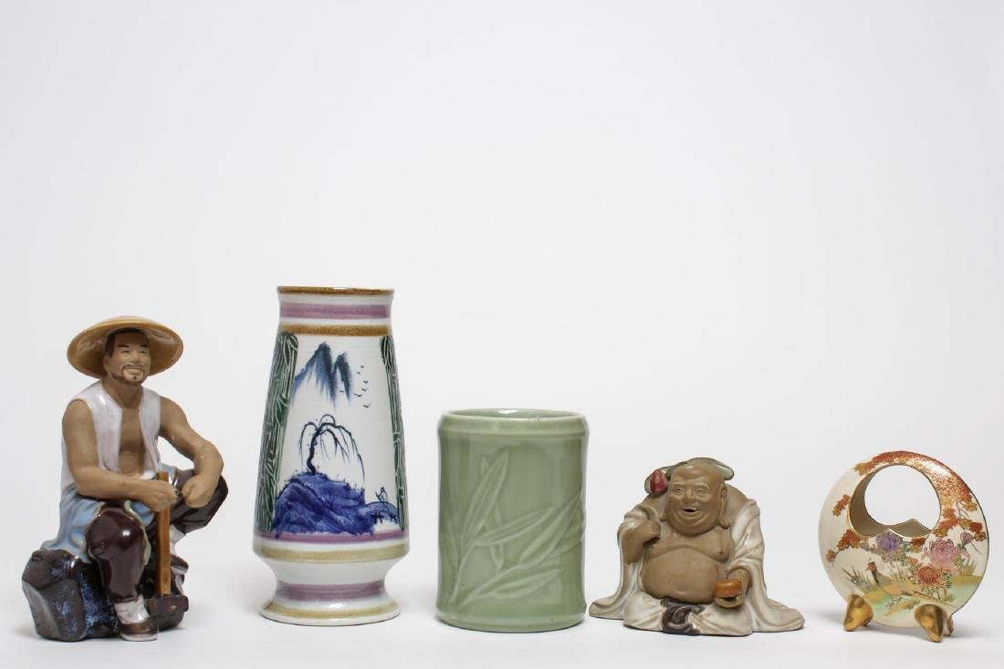 Asian Pottery Items, 5 Assorted Chinese & Japanese