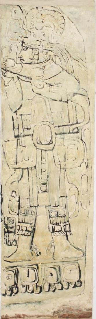 Mesoamerican School- Tempera on Canvas