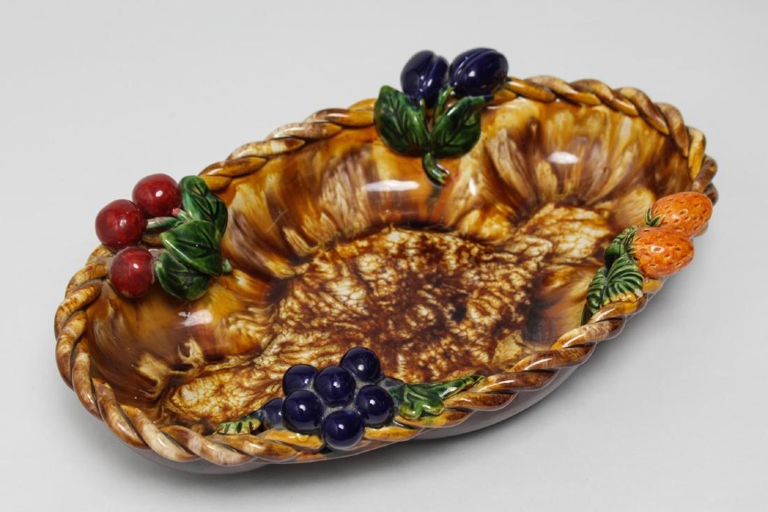St. Peter Graz Austrian Majolica Centerpiece Bowl