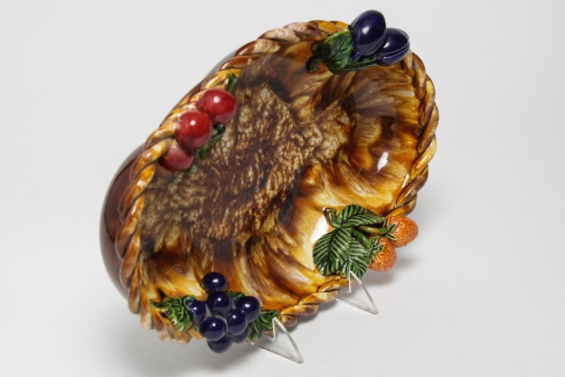St. Peter Graz Austrian Majolica Centerpiece Bowl - 4