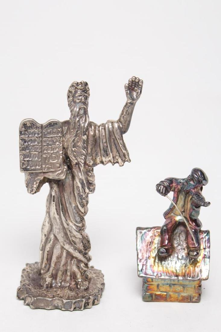 """Judaica Silver-Clad """"Fiddler on the Roof"""" & Moses"""