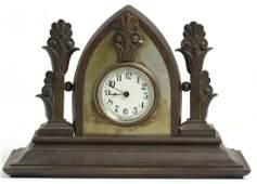 Gothic Revival Bronze Clock