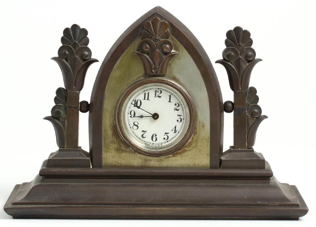 Gothic Revival Bronze Clock
