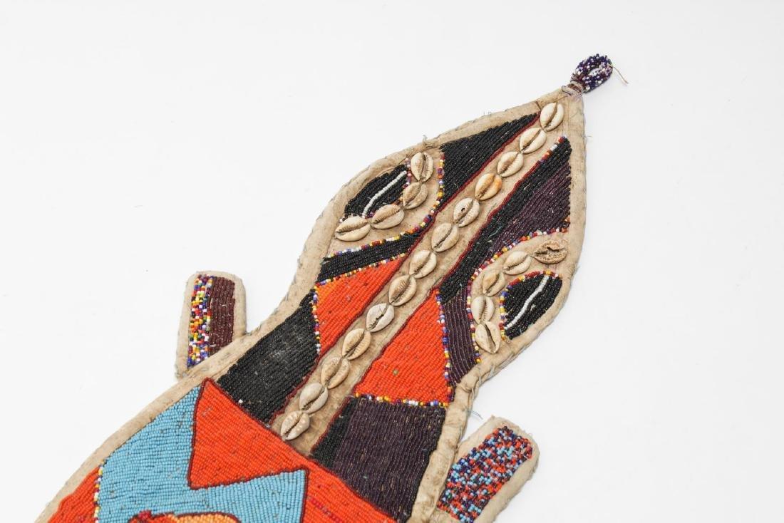 African Yoruba Tribe Beaded Lizard Ceremonial Sash - 2