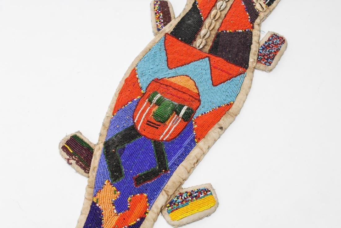 African Yoruba Tribe Beaded Lizard Ceremonial Sash - 3