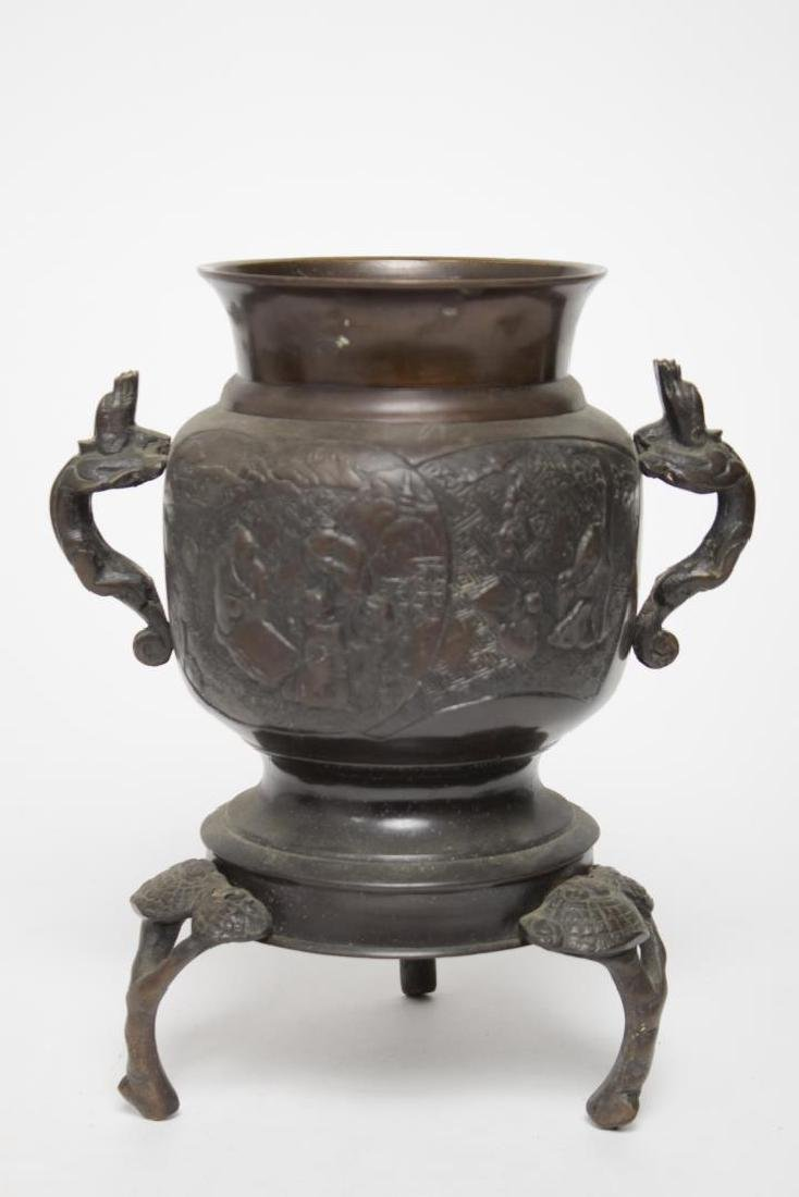 Antique Japanese Meiji Bronze Vase