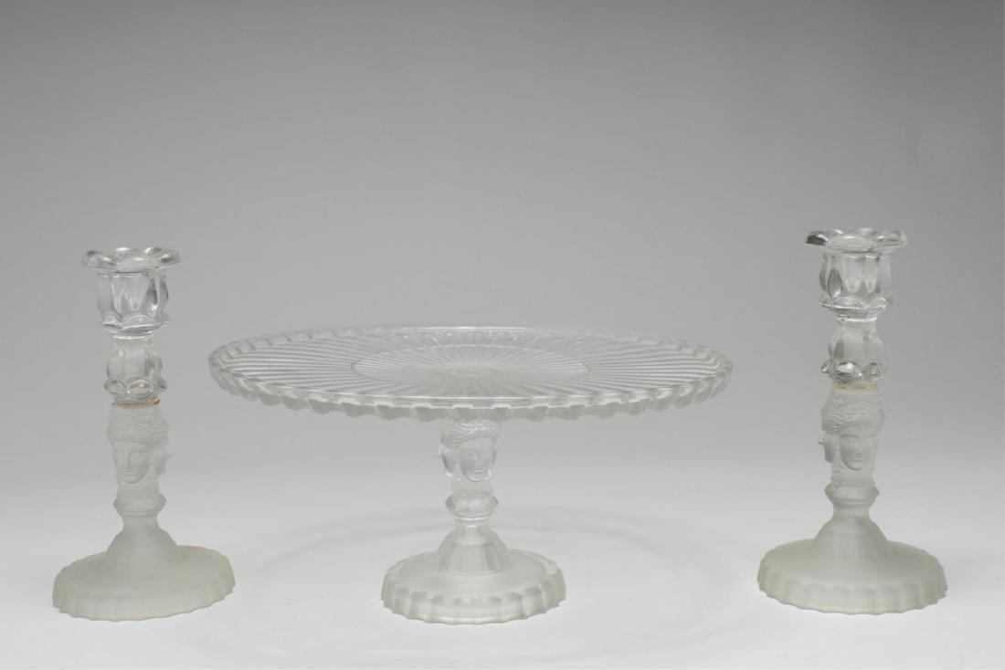 "Metropolitan Museum ""Three Face"" Glass Articles"