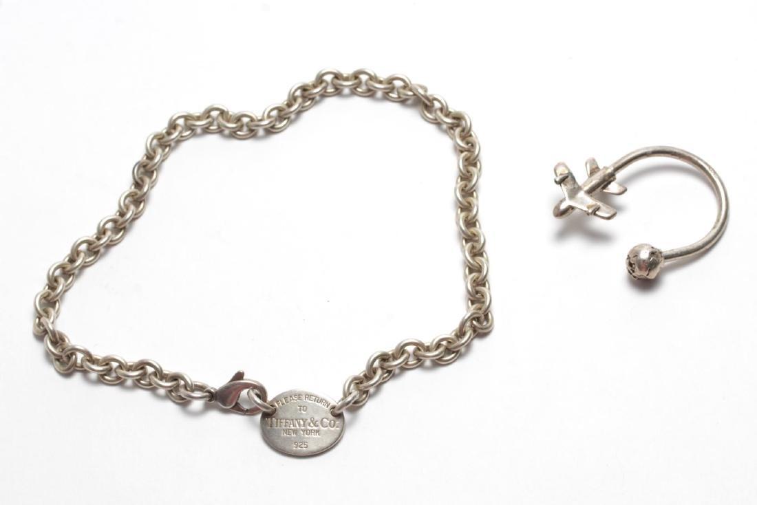 Tiffany & Tiffany-Manner Silver Choker & Key Ring