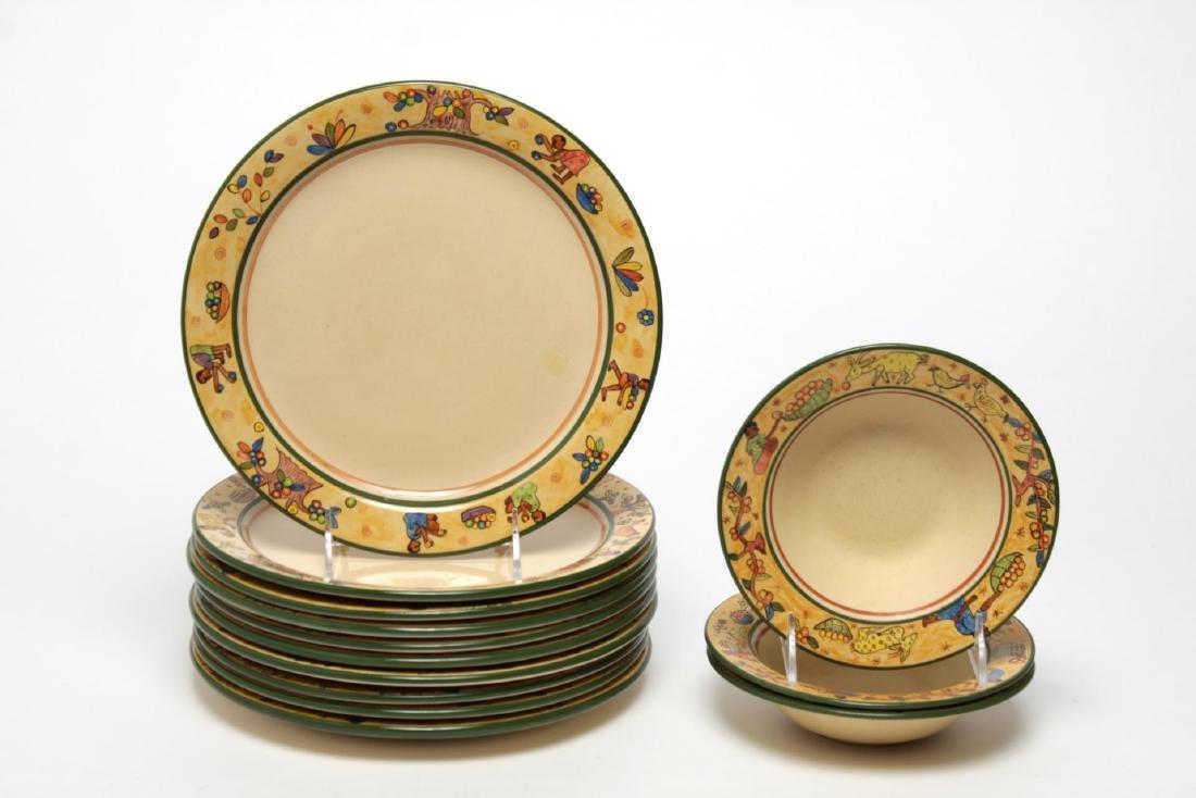 Zimbabwe Painted Pottery Dishes, Artist-Signed