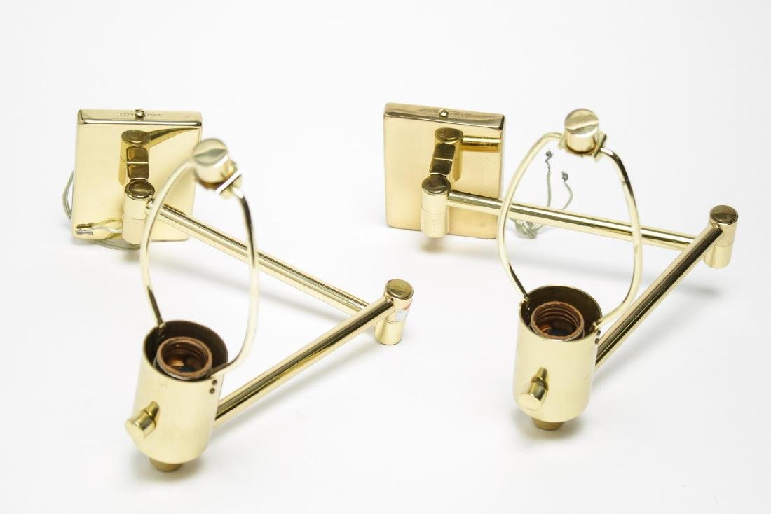 Hinson Brass Swing-Arm Wall Sconces, Pair