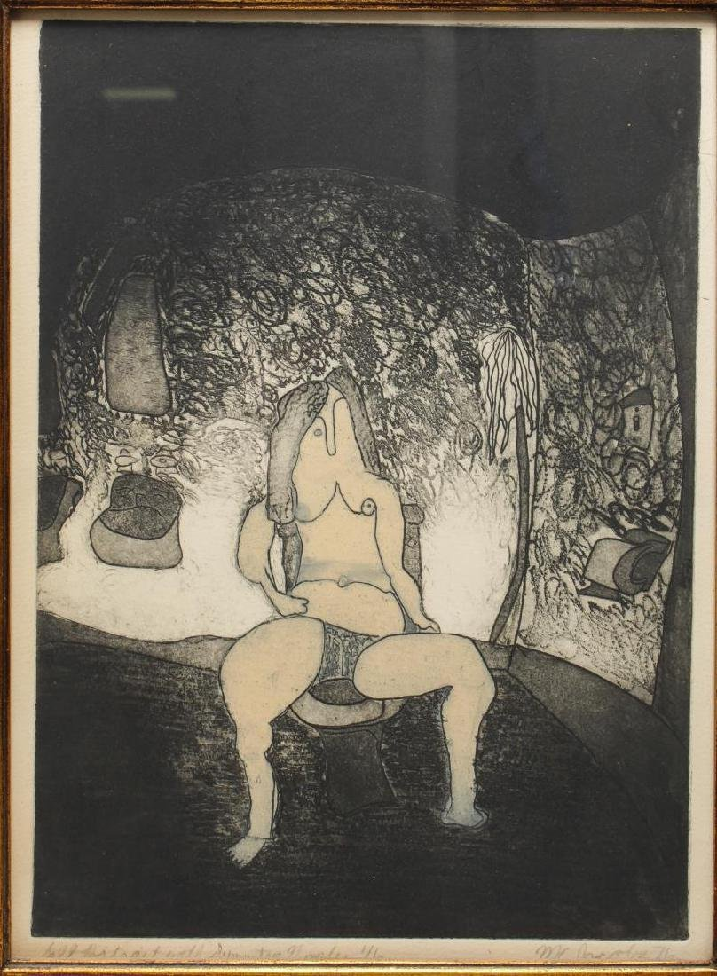 Signed M.C. Jacobs- Expressionist Etching - 2