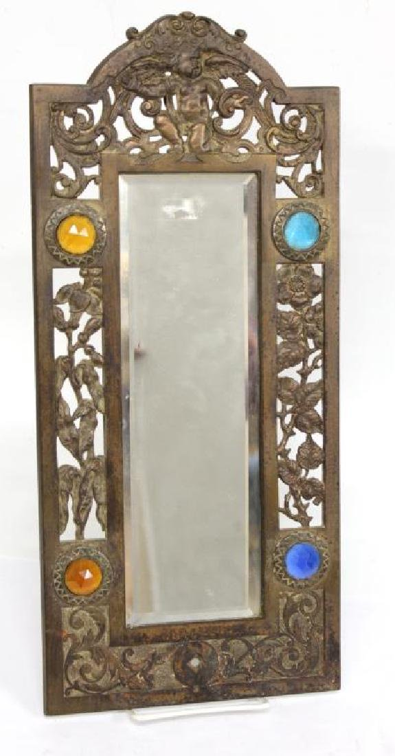 Neoclassical-Manner Gilt Bronze Wall Mirror
