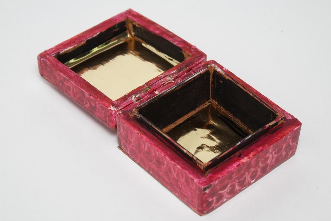 Folk Art Boxes, Faux Grain-Painted, Set of 5 - 10