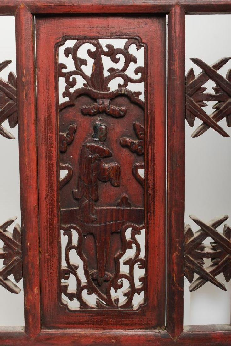 Chinese Carved & Painted Wood Furniture Panels, 2 - 2