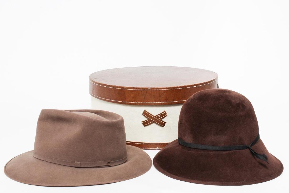 Vintage Rabbit Fur & Suede Hats, 2