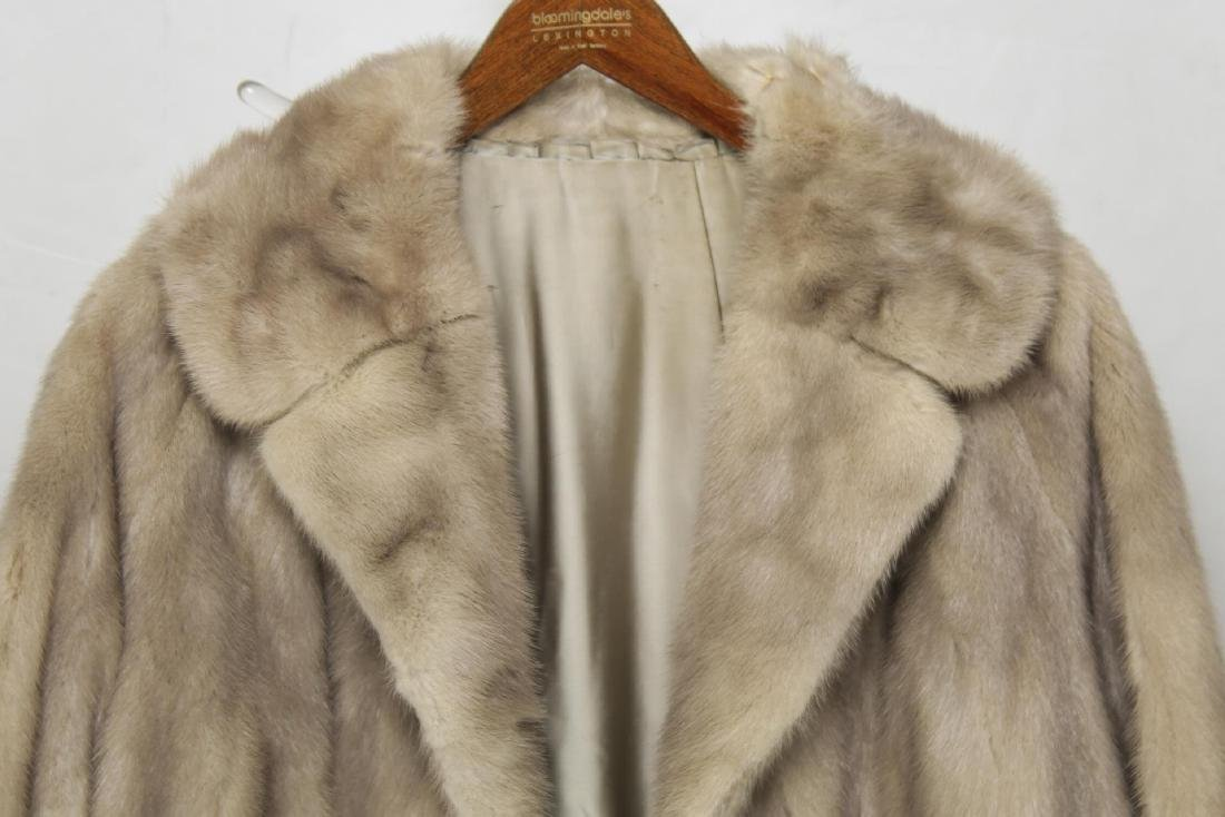 Woman's Mink Fur Coat, Silver or Azurene Color - 2