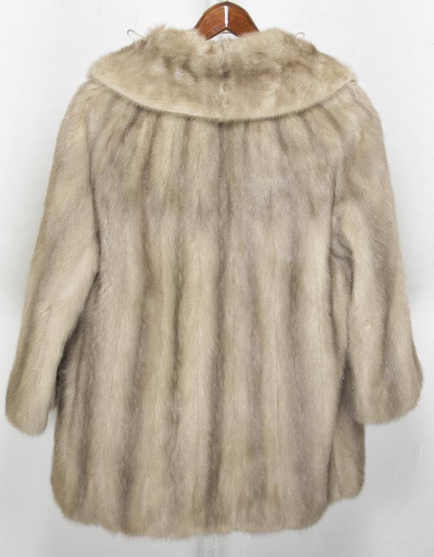 Woman's Mink Fur Coat, Silver or Azurene Color - 4