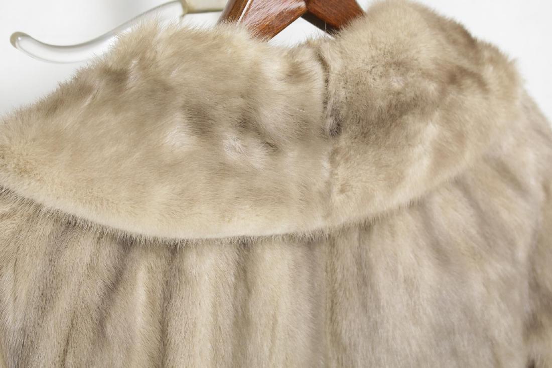 Woman's Mink Fur Coat, Silver or Azurene Color - 5