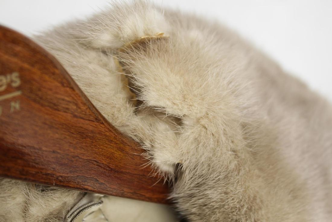 Woman's Mink Fur Coat, Silver or Azurene Color - 7