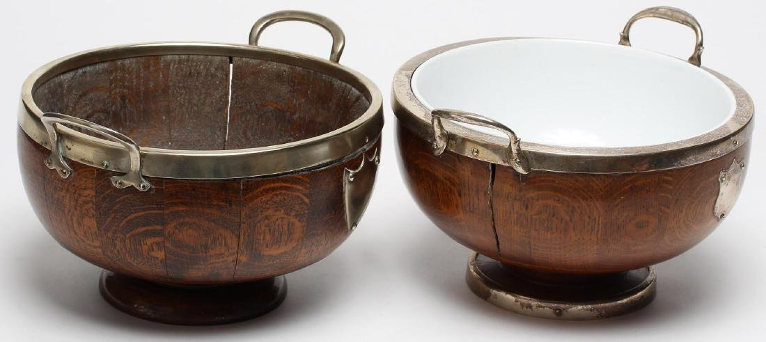 Victorian Antique English Oak Trophy Bowls - 2