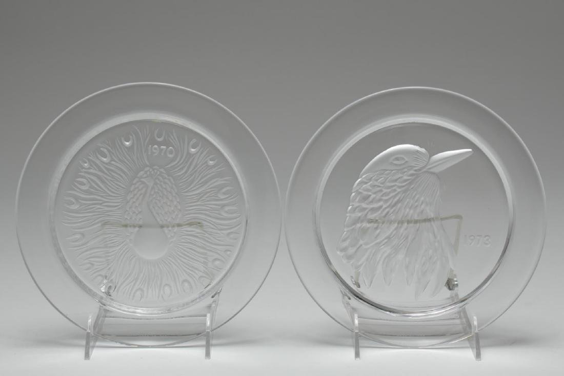 Lalique Glass Annual Collector Plates, 2