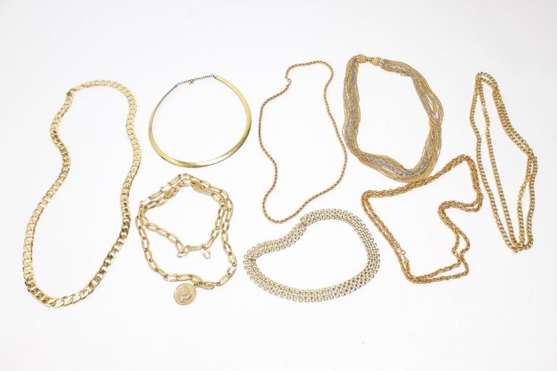 Vintage Costume Chain Necklaces, Gold-Tone