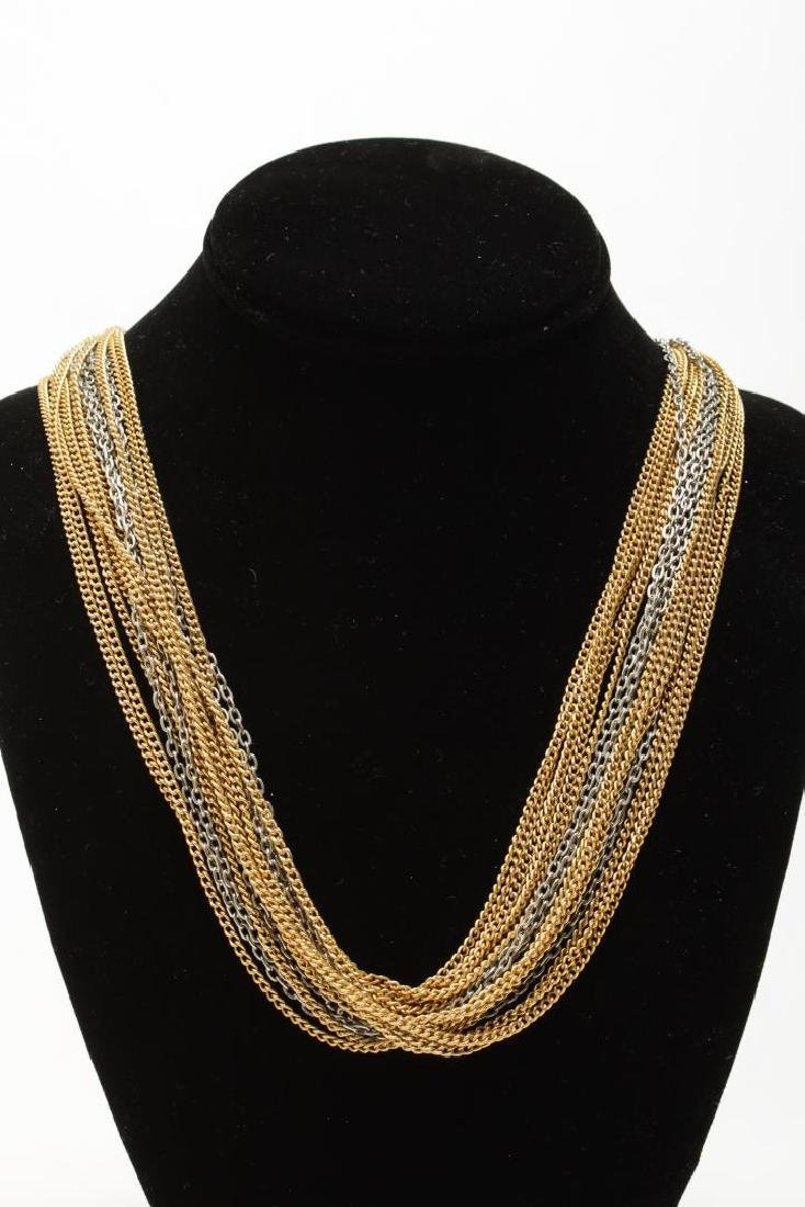 Vintage Costume Chain Necklaces, Gold-Tone - 4
