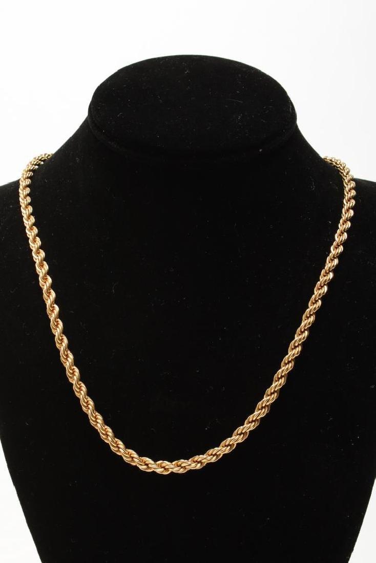 Vintage Costume Chain Necklaces, Gold-Tone - 7
