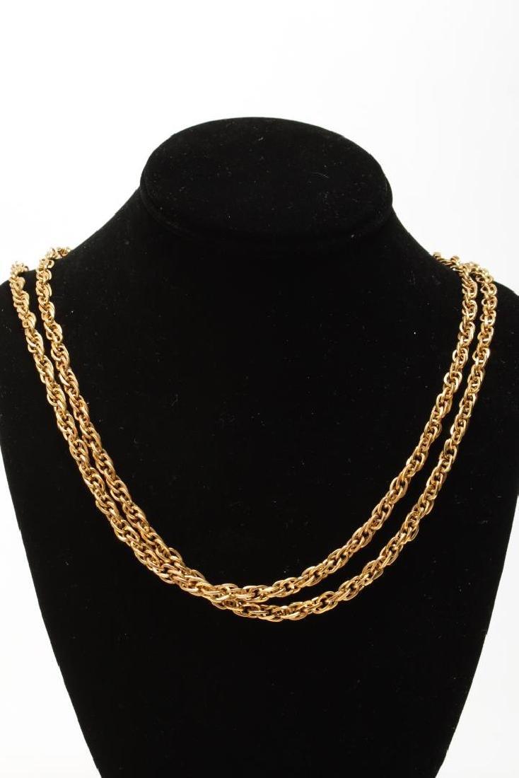 Vintage Costume Chain Necklaces, Gold-Tone - 8