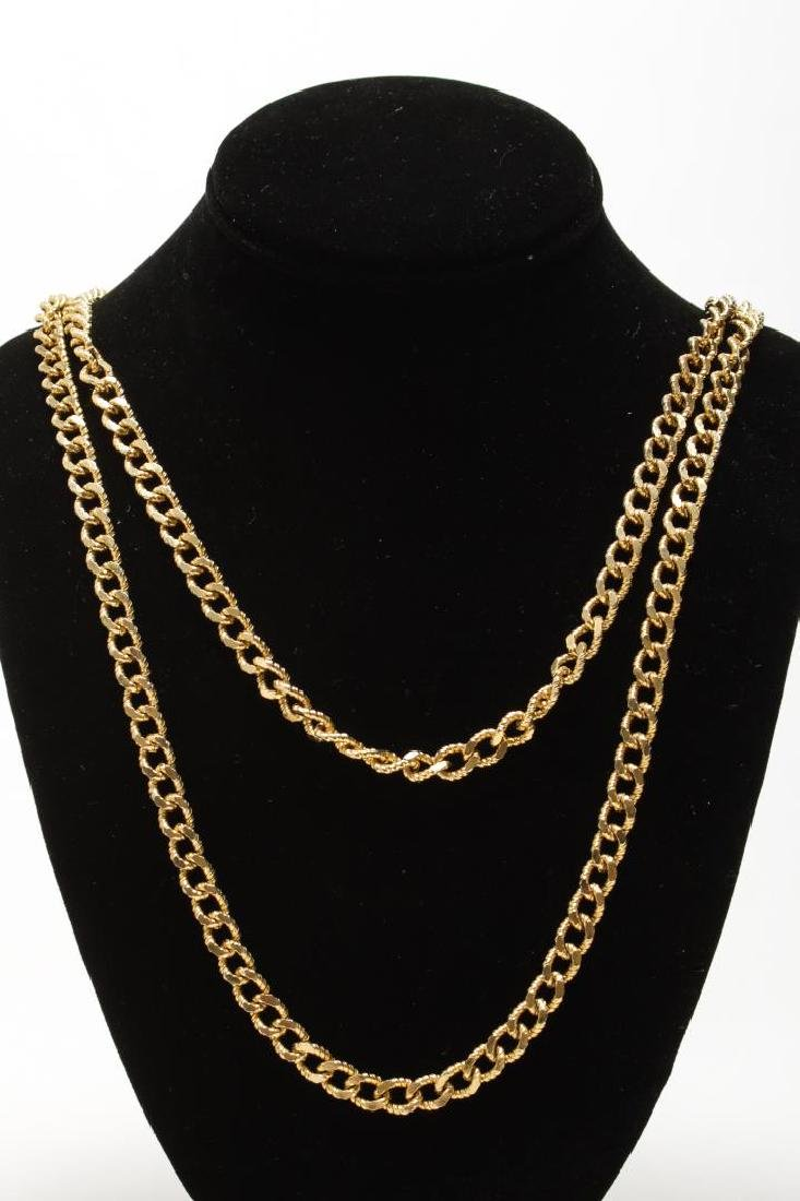 Vintage Costume Chain Necklaces, Gold-Tone - 9