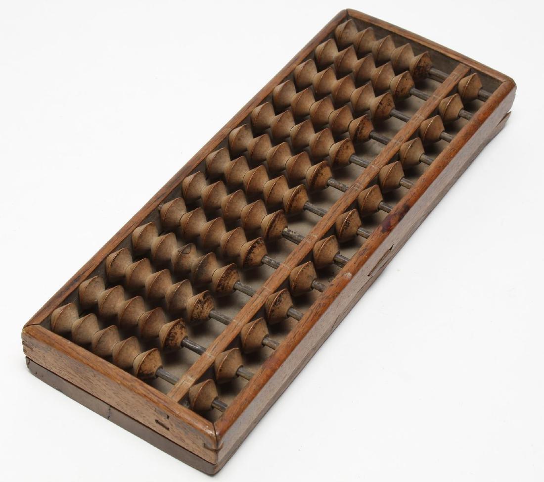 Vintage Japanese Carved Wood Soroban Abacus