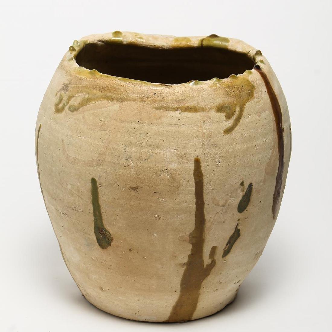 Mid-Century Modern Art Pottery Vase, Partly-Glazed