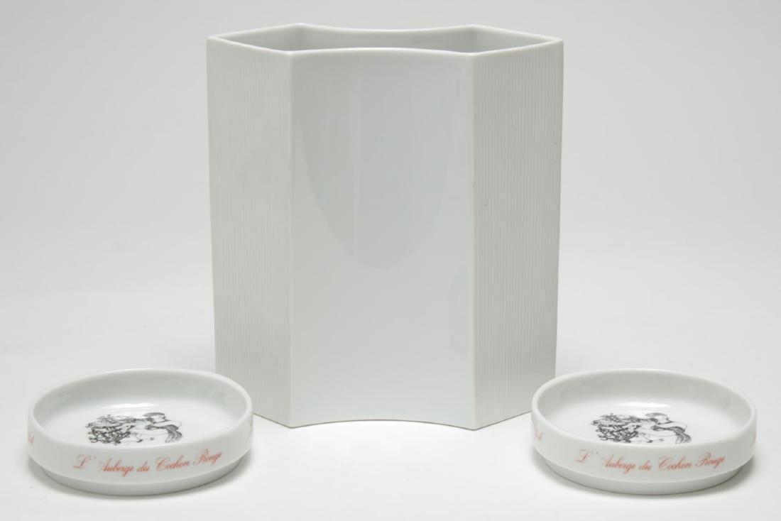 Rosenthal Studio-Linie Porcelain Vase & 2 Dishes