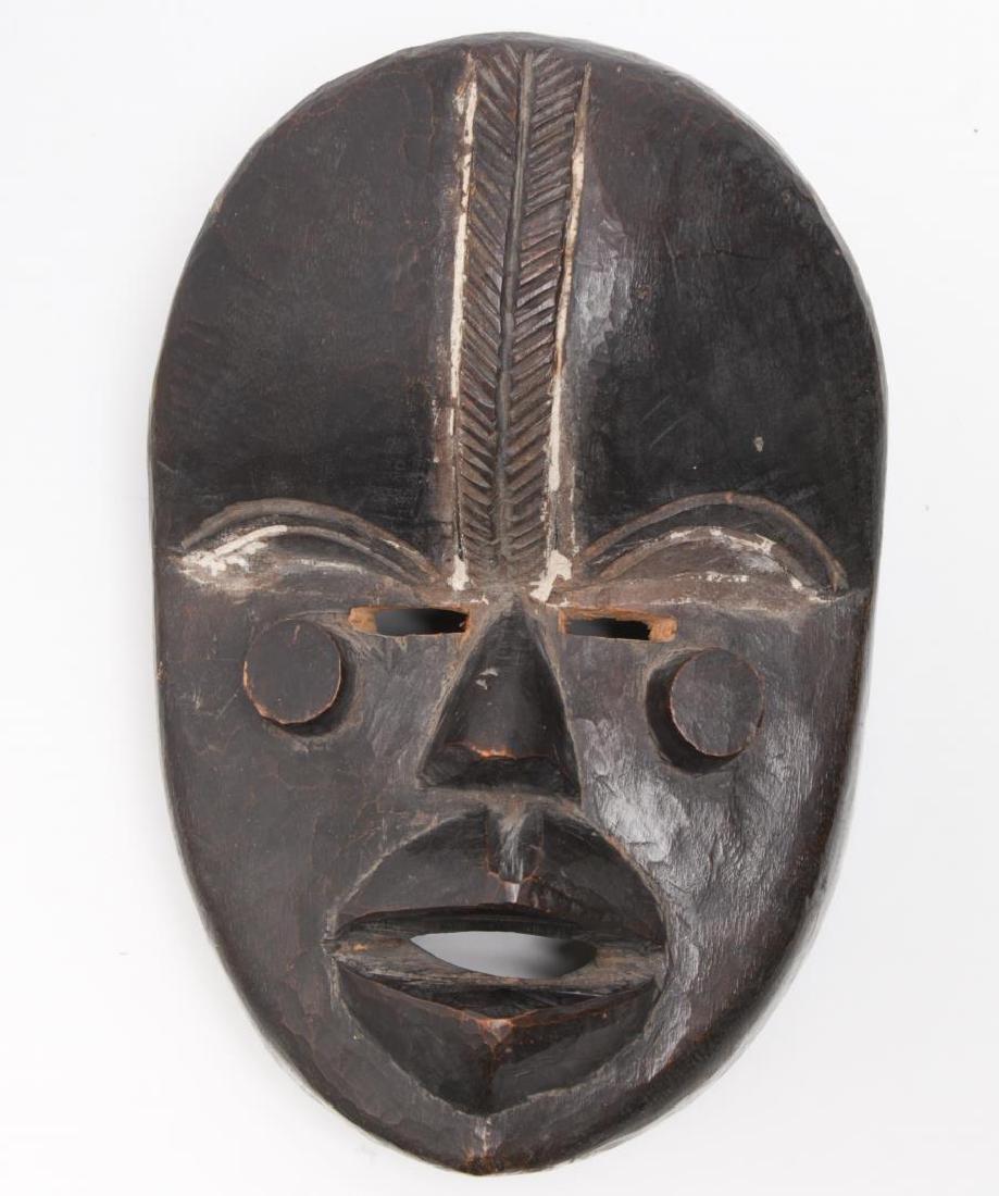 African Tribal Dan Mask, Carved Wood