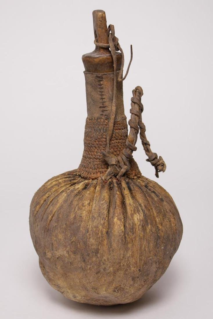 African Tribal Ethnographic Leather Water Bottle