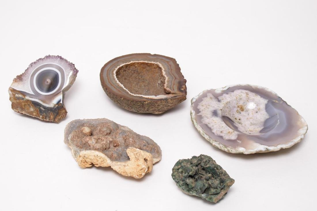 Mineral & Geode Specimens, Group of 5 Assorted