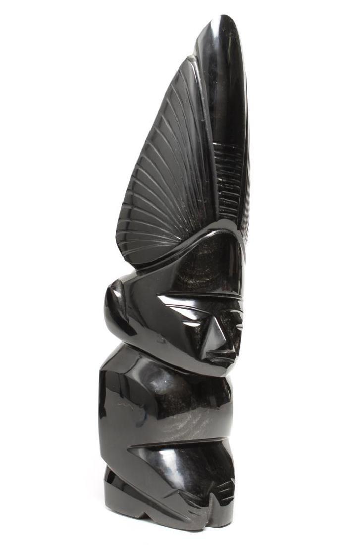 Mesoamerican Black Obsidian Aztec / Mayan Figure