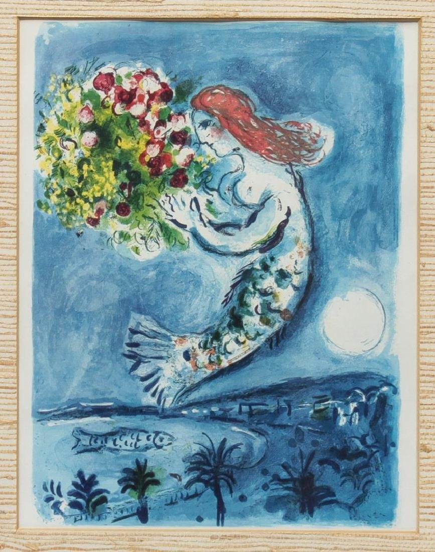 """After Marc Chagall- """"Bay of Angels"""" Print"""