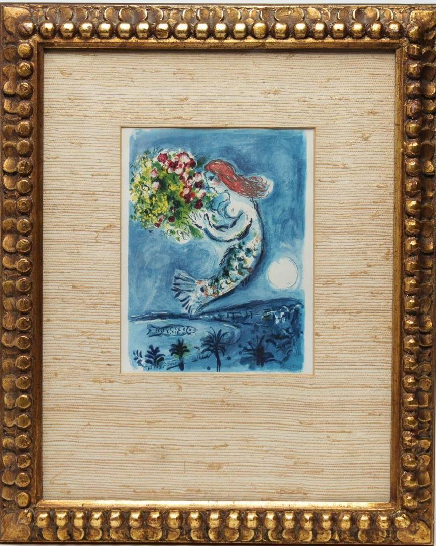 "After Marc Chagall- ""Bay of Angels"" Print - 2"