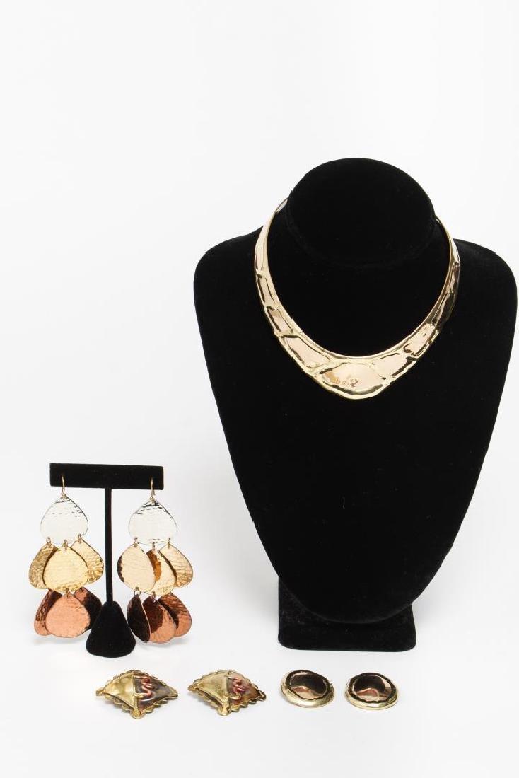 Allen Jacobsen Jewelry, Woman's Torque & Earrings