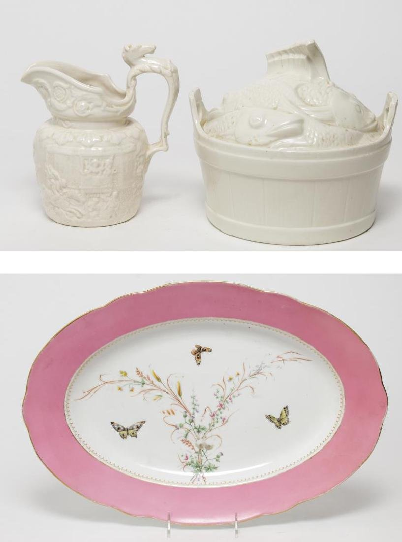 Porcelain & Ceramic Kitchen Items, 3 Vintage Pcs