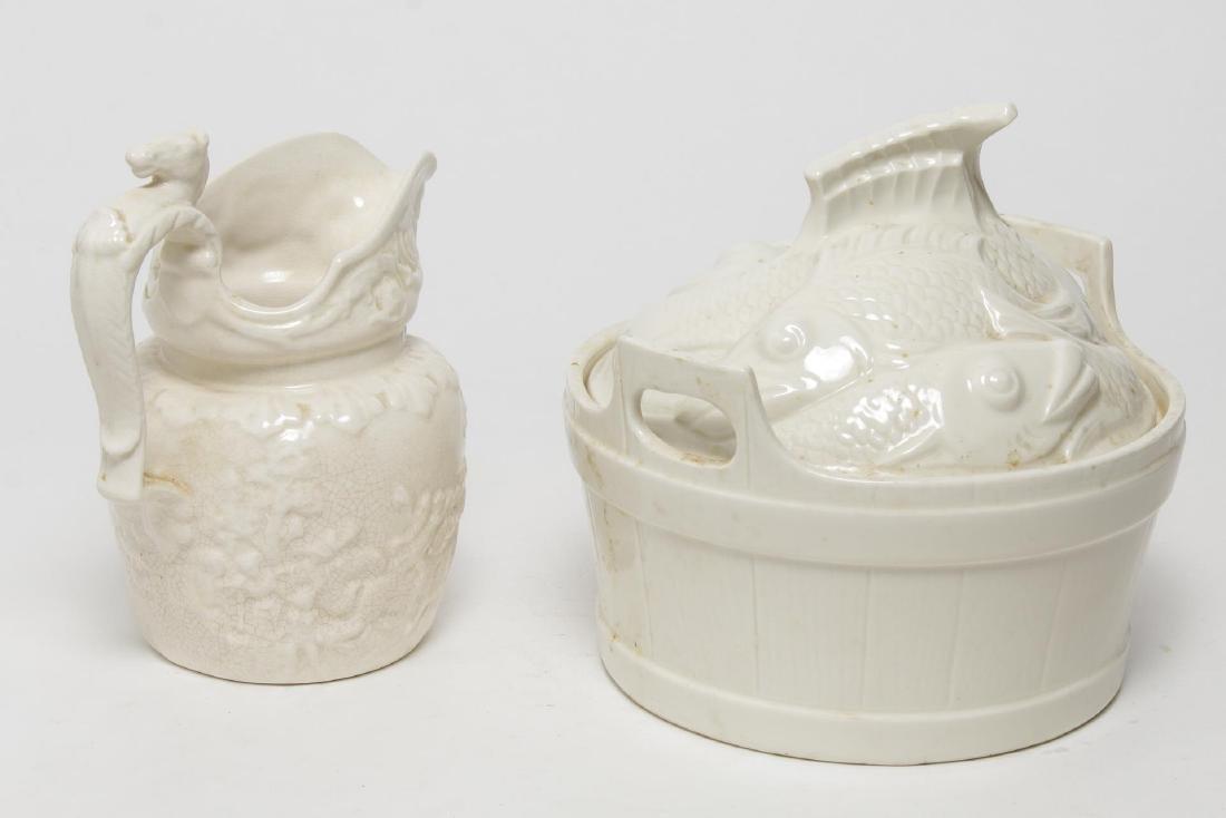Porcelain & Ceramic Kitchen Items, 3 Vintage Pcs - 2