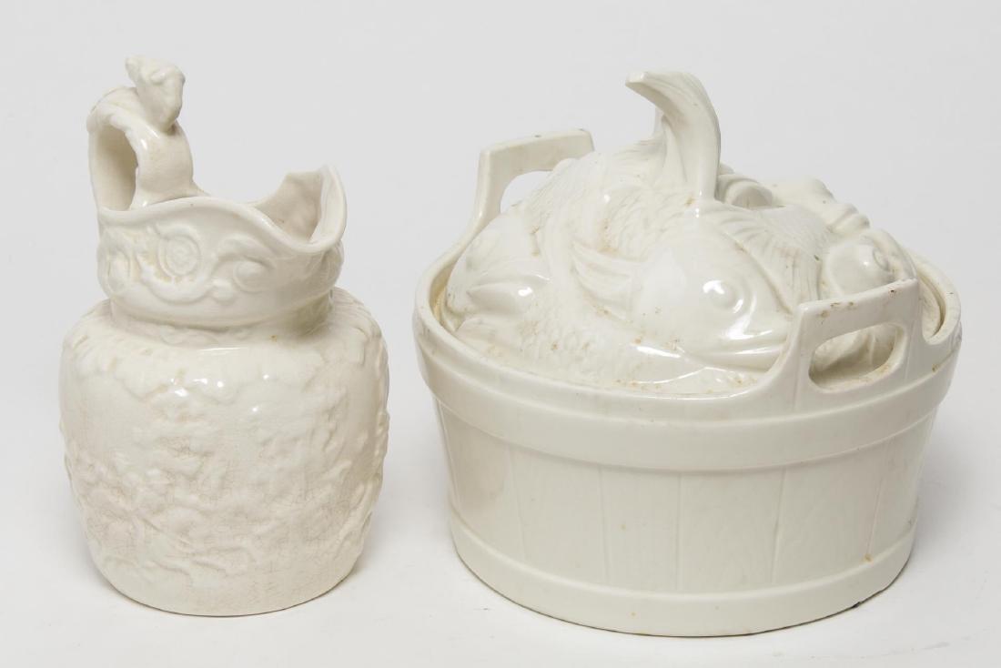 Porcelain & Ceramic Kitchen Items, 3 Vintage Pcs - 3